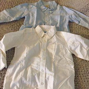 VGUC 4T White & Blue Dress Shirt Button Up Bundle